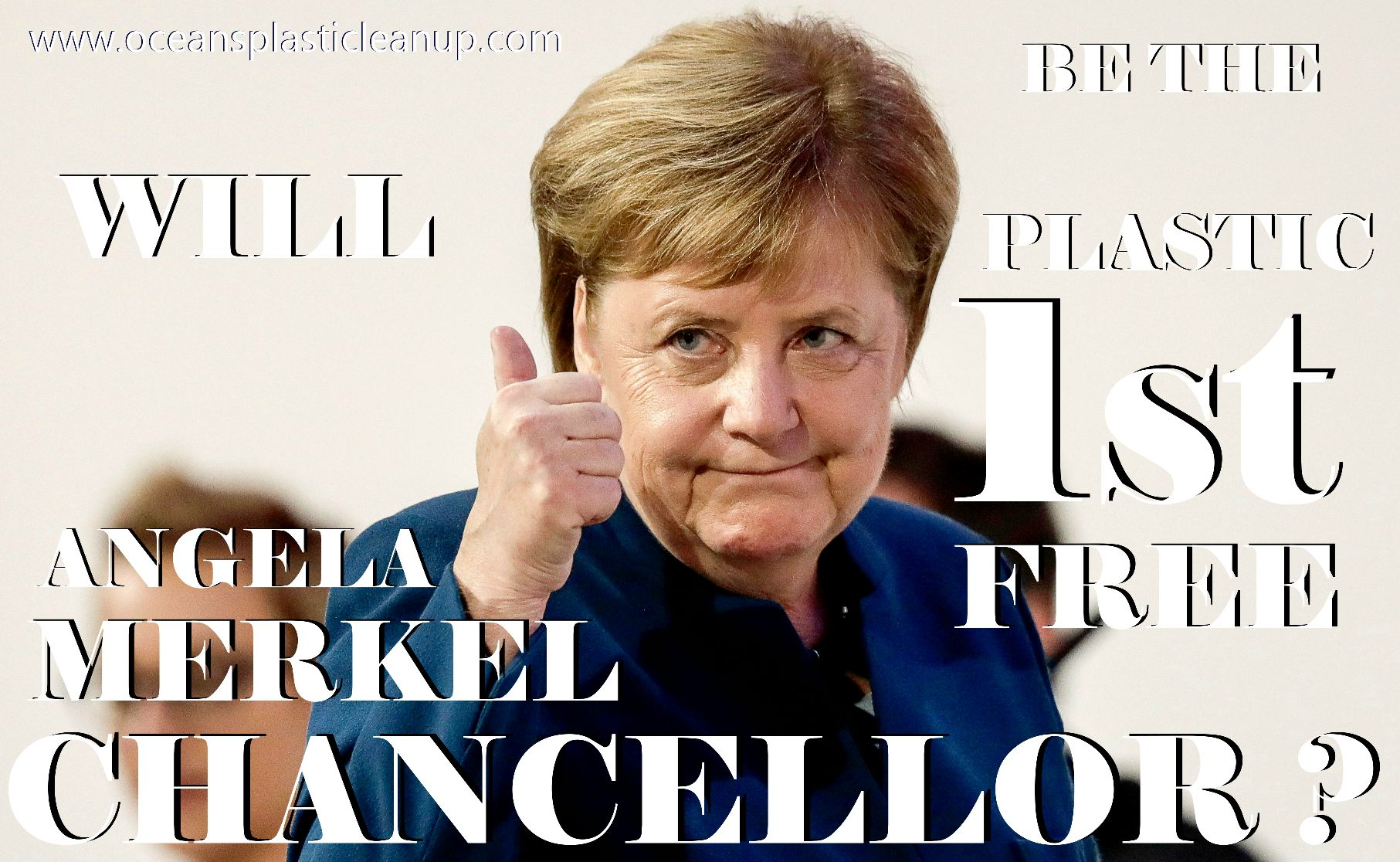 Could Angela Merkel be the first plastic free Chancellor of Germany ?