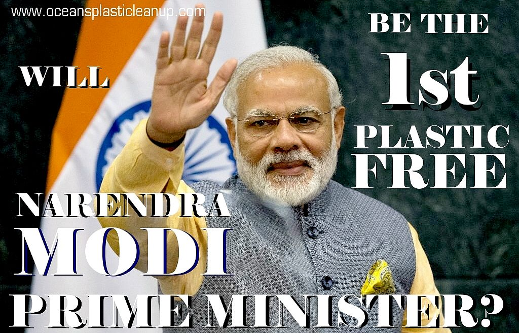 Narendra Modi for 1st plastic free prime minister of India