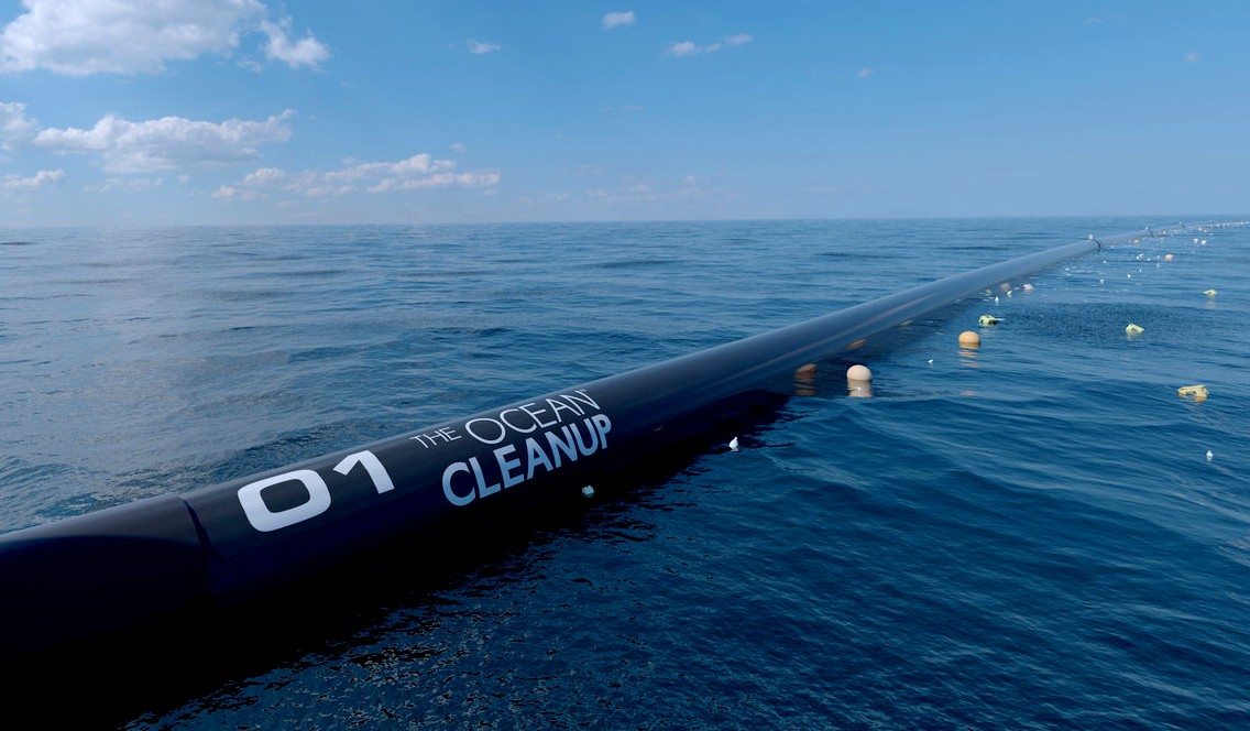 Wilson 01 the ocean cleanup floating boom scooper